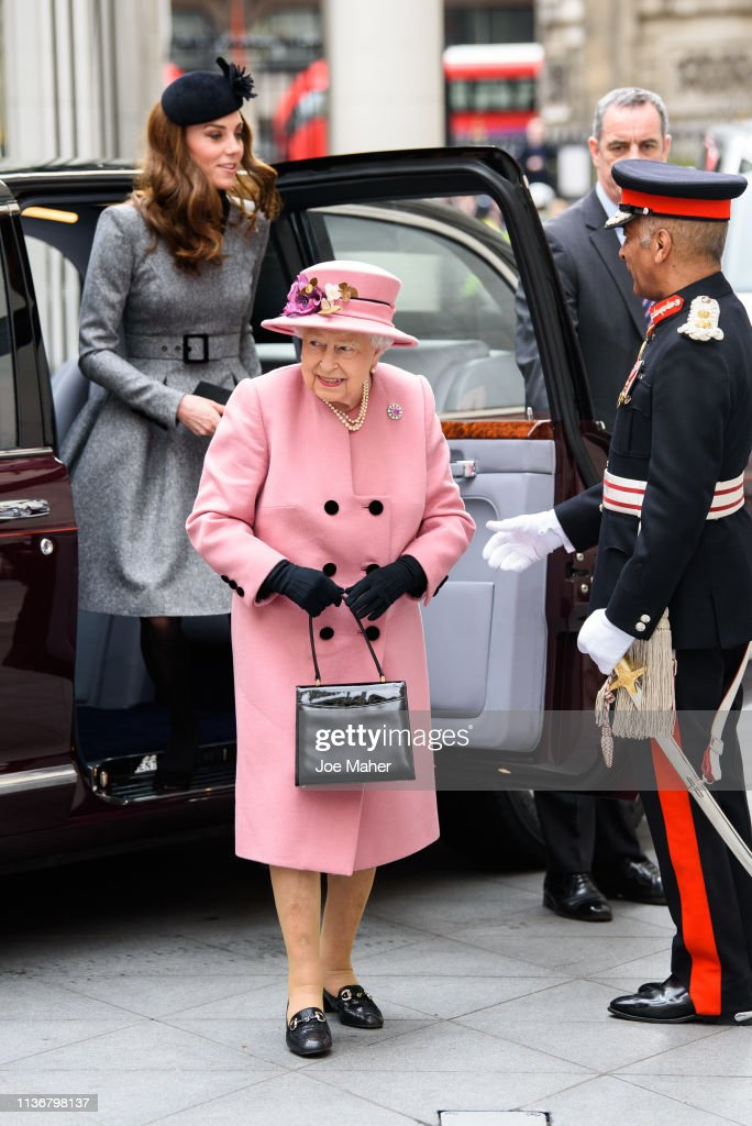 GBR: Queen Elizabeth II And The Duchess Of Cambridge Visit King's College London