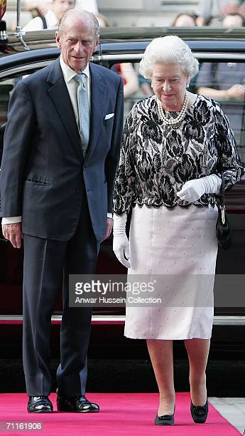 Queen Elizabeth II and The Duke of Edinburgh arrive at a Royal Gala at the Royal Opera House in London June 8 to celebrate her 80th birthday and the...