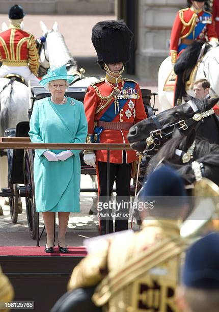 Queen Elizabeth Ii And The Duke Of Edinburgh Attend The 2008 Trooping Of The Colour Ceremony In London
