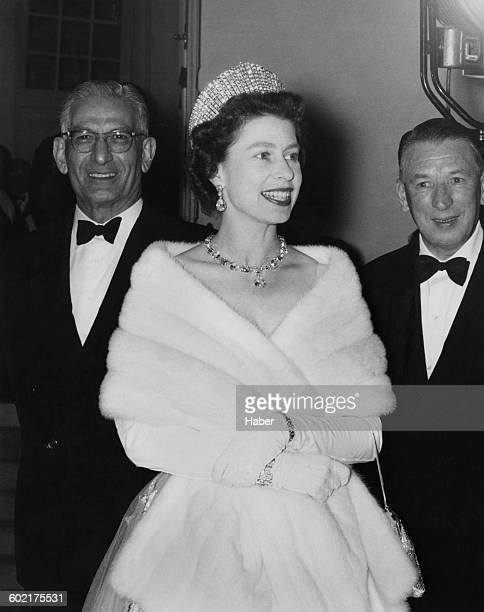 Queen Elizabeth II arrives at a luncheon given by the Governor of Peshawar during a Commonwealth visit to Pakistan 4th February 1961