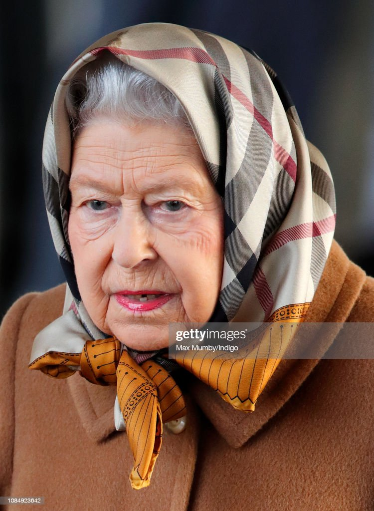 Queen Elizabeth II Arrives At King's Lynn Station : News Photo