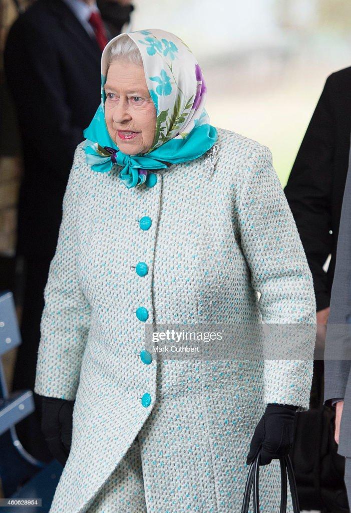The Queen Arrives At King's Lynn Station For Her Christmas Break At Sandringham : News Photo