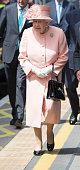 slough england queen elizabeth ii arrives