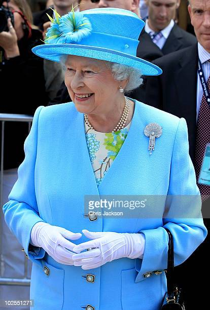Queen Elizabeth II arrives at the Canadian Museum of Nature on June 30 2010 in Ottawa Canada The Queen and Duke of Edinburgh are on an eight day tour...