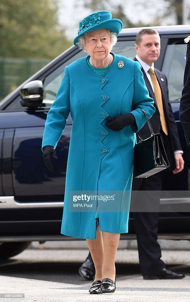 The Queen And Duke of Edinburgh Open New Jaguar Land Rover Plant In Wolverhampton : News Photo