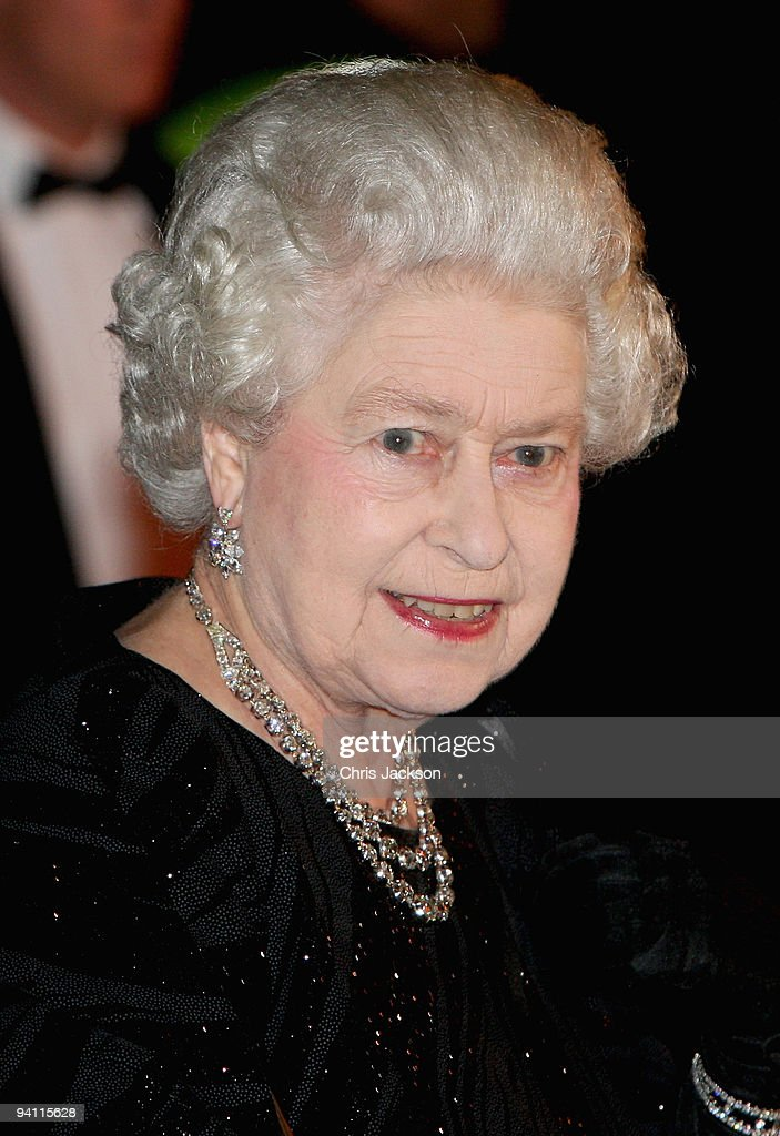 Queen Elizabeth II arrives at the Royal Variety Performance at Blackpool Opera House on December 7, 2009 in Blackpool, England.