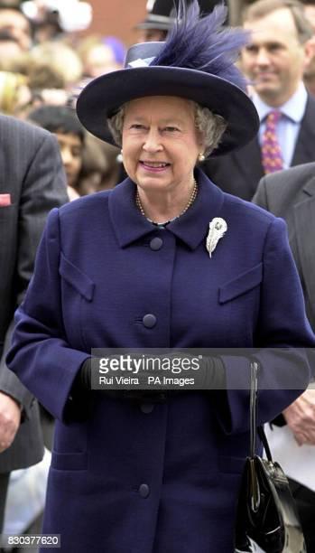 Queen Elizabeth II arrives at University of Birmingham Edgbaston during her and the Duke of Edinburgh's visit to the West Midlands