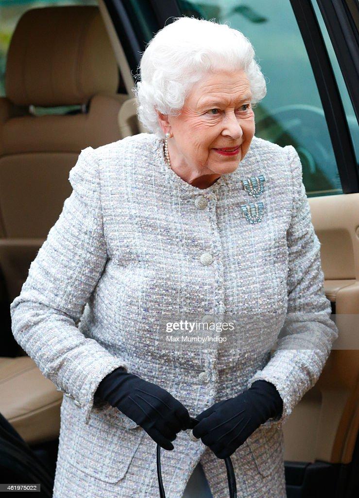 Queen Elizabeth II Attends Meeting Of Sandringham Branch Of The Women's Institute : News Photo