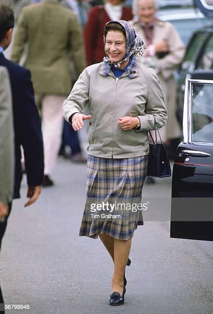 Queen Elizabeth II arrives for a holiday in Scrabster Scotland