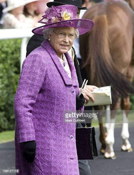 Queen Elizabeth Ii Arrives For Day Two Of Royal Ascot In Berkshire
