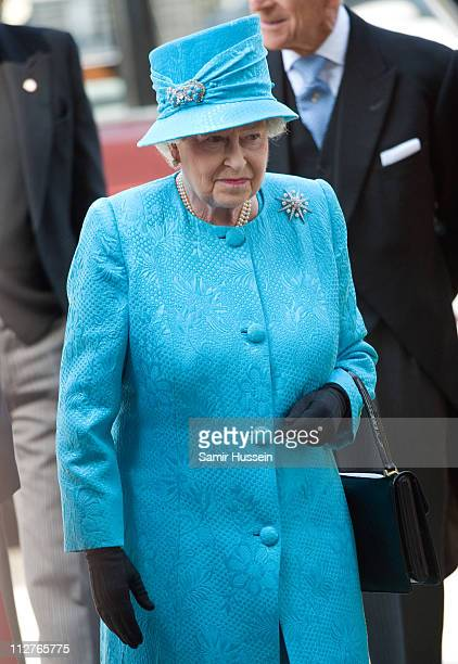 Queen Elizabeth II arrives for the Maundy Service at Westminster Abbey on April 21 2011 in London England Today is Queen Elizabeth II's 85th Birthday