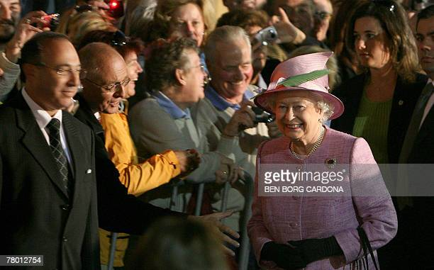 Queen Elizabeth II arrives in Valletta 20 November 2007on a short visit to celebrate her 60th Wedding anniversary The queen and the Duke of Edinburgh...