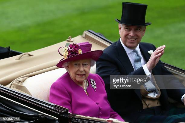 Queen Elizabeth II arrives on day five of Royal Ascot 2017 at Ascot Racecourse on June 24 2017 in Ascot England