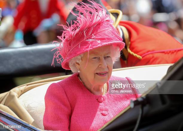 Queen Elizabeth II arrives on day four of Royal Ascot at Ascot Racecourse on June 21 2019 in Ascot England
