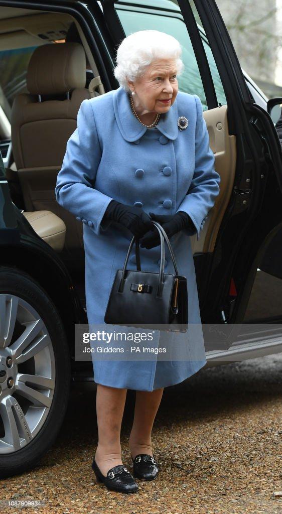 Queen Elizabeth II at WI meeting : News Photo