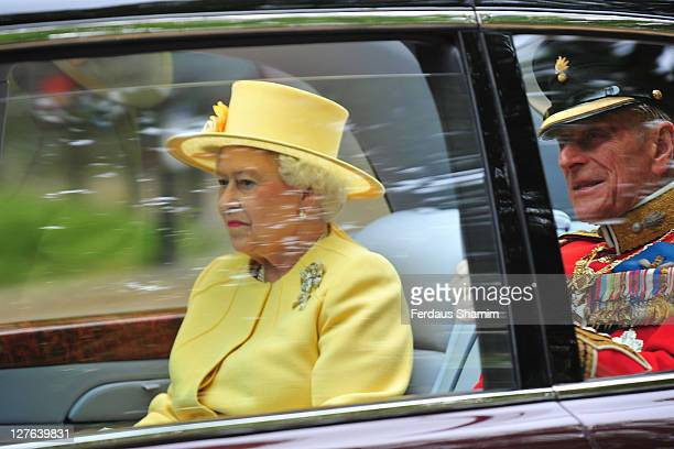 Queen Elizabeth II arrives to attend the Royal Wedding of Prince William to Catherine Middleton at Westminster Abbey on April 29 2011 in London...