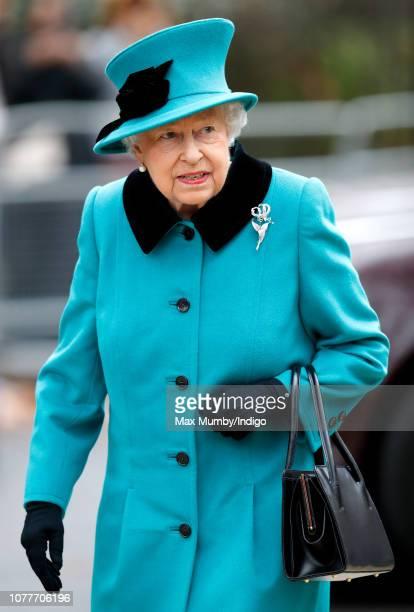 Queen Elizabeth II arrives to open the Queen Elizabeth II centre at Coram on December 5 2018 in London England Coram the UK's oldest children's...