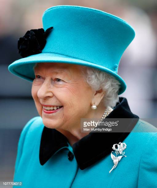 Queen Elizabeth II arrives to open the Queen Elizabeth II centre at Coram on December 5 2018 in London England Coram the UK's oldest children's...