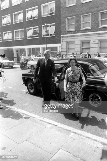 Queen Elizabeth II arriving at the King Edward VII Hospital for Officers to visit Princess Anne The Princess had an emergency operation for the...