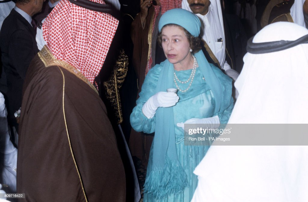 Royalty - Queen Elizabeth II Tour of the Middle East - Saudi Arabia : News Photo