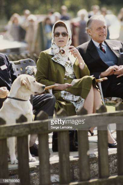 Queen Elizabeth II at a polo match 1981