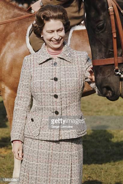 Queen Elizabeth II at a Windsor Horse Show circa 1975