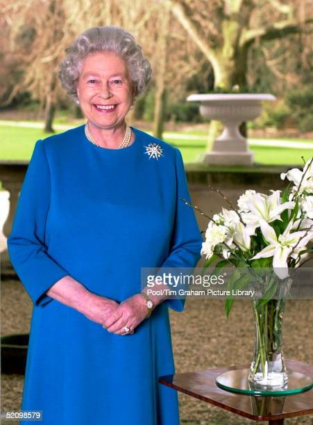 Queen Elizabeth II At Her Home Buckingham Palace After Recording Her Annual Commonwealth Day Message