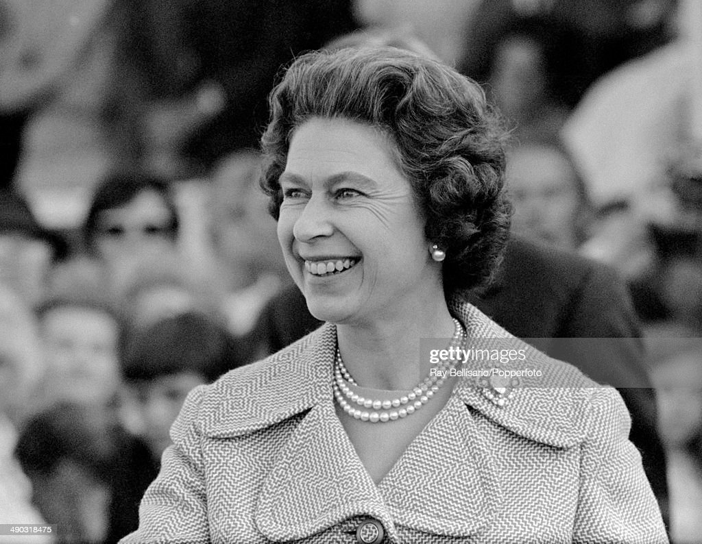 Queen Elizabeth II at the Burghley Horse Trials near Stamford on 4th September 1971.