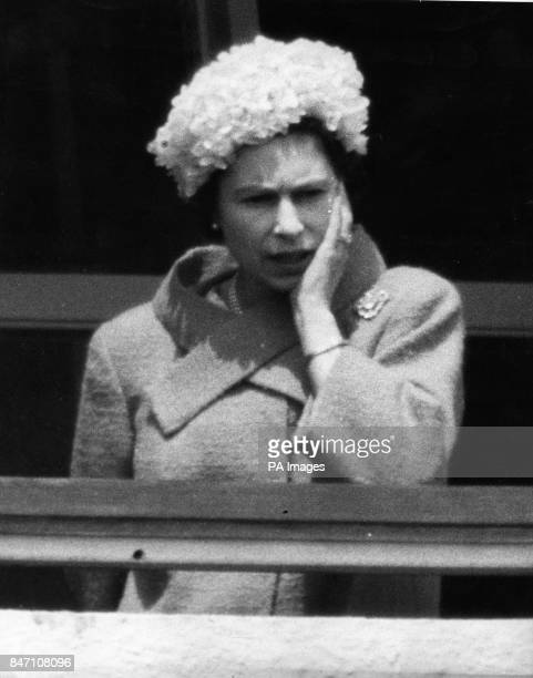 Queen Elizabeth II at the Epsom Derby where she saw the 661 outsider Psidium win the big race
