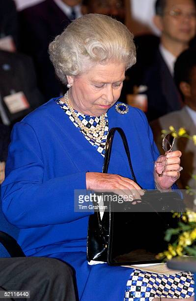 Queen Elizabeth II At The London Commonwealth Institute Where She Made A Speech To Open A Commonwealth Economic Conference