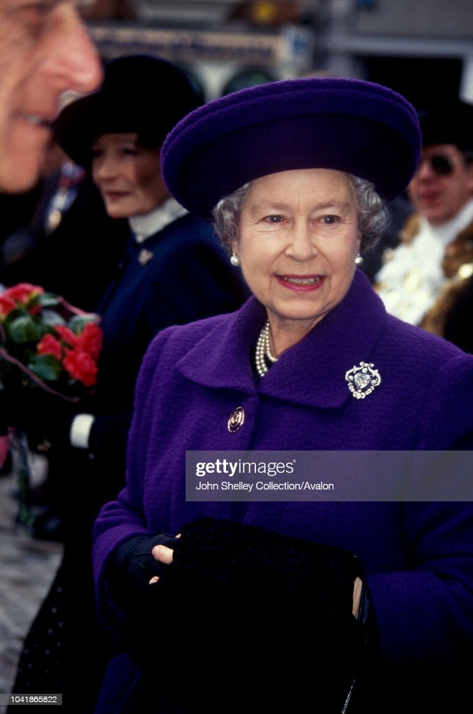Queen Elizabeth II at the Maundy Service.......... : News Photo