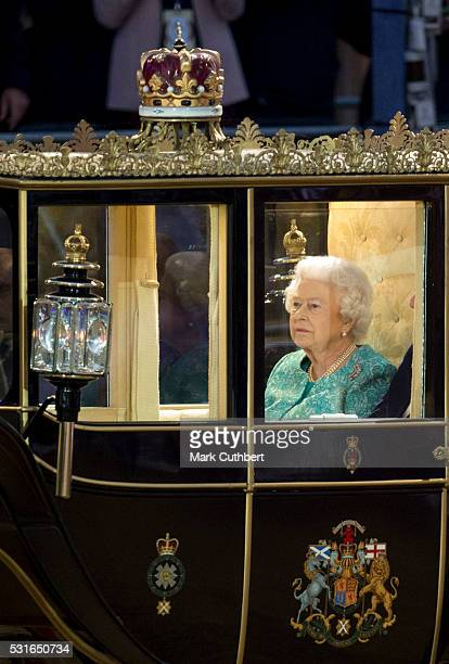 Queen Elizabeth II at The Queen's 90th Birthday Celebration at The Royal Windsor Horse Show on May 15 2016 in Windsor England
