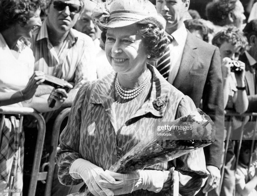 Queen Elizabeth II at the Royal Welsh Show, 21st July 1983.