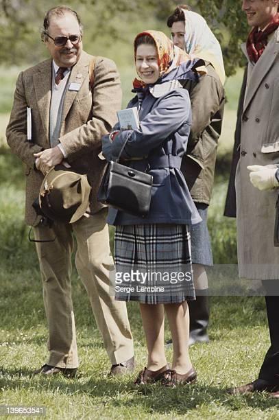 Queen Elizabeth II at the Royal Windsor Horse Show, 1977.