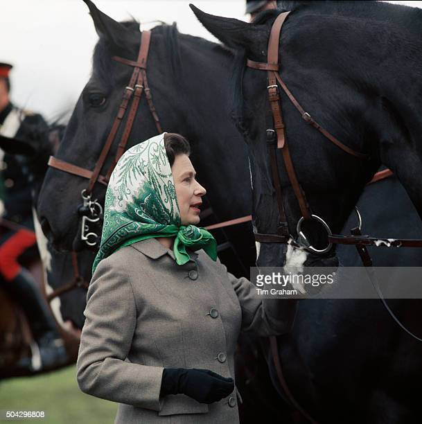 Queen Elizabeth II at the Royal Windsor Horse Show May 1968