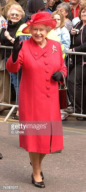 HRH Queen Elizabeth II at the The Queen's 80th Birthday Celebrations Walkabout at Outside Windsor Castle in Windsor
