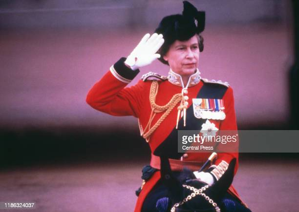 Queen Elizabeth II at the Trooping the Colour ceremony London 16th June 1979
