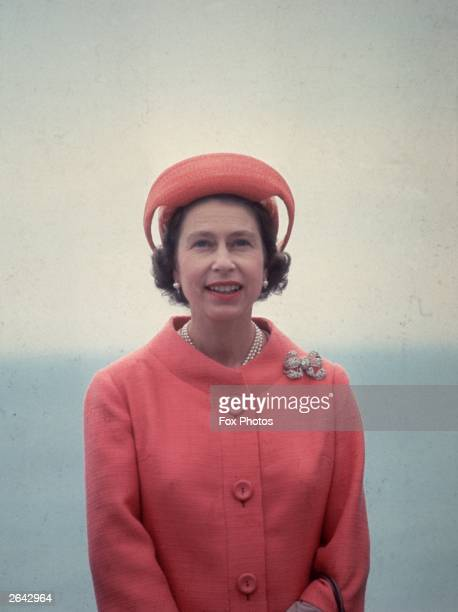 Queen Elizabeth II at Ventnor during a Royal visit to the Isle of Wight