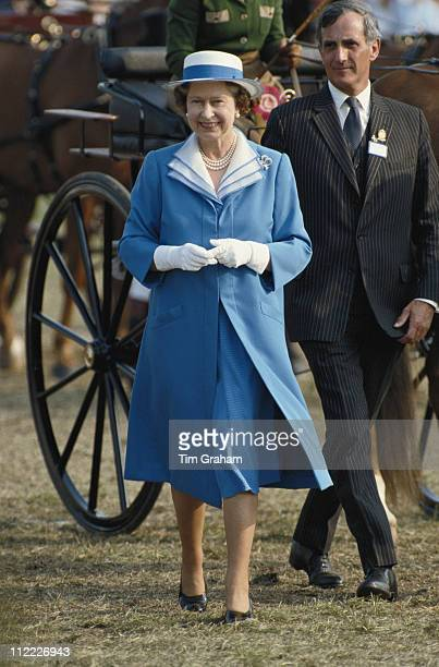 Queen Elizabeth II attending the Royal Windsor Horse Show held at Home Park in Windsor Berkshire England Great Britain 15 May 1988