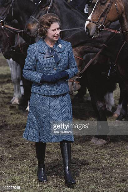 Queen Elizabeth II attending the Royal Windsor Horse Show held at Home Park in Windsor Berkshire England Great Britain 1 May 1979