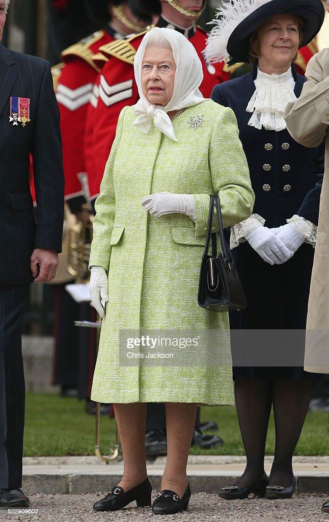 Queen Elizabeth Ii Attends A Beacon Lighting Ceremony To