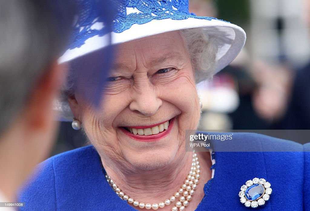Queen Elizabeth II attends a Garden Party at Balmoral Castle, on August 07, 2012 in Aberdeenshire, Scotland.