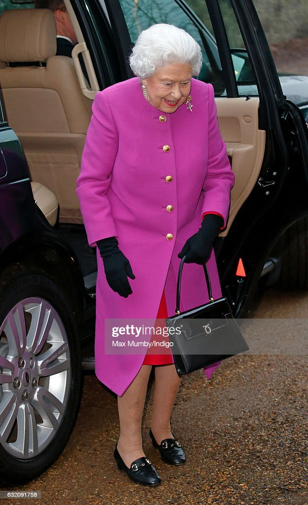 The Queen Attends Meeting Of Sandringham Branch Of The Women's Institute : News Photo