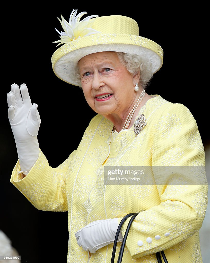 Queen Elizabeth II attends a national service of thanksgiving to mark her 90th birthday at St Paul's Cathedral on June 10, 2016 in London, England.
