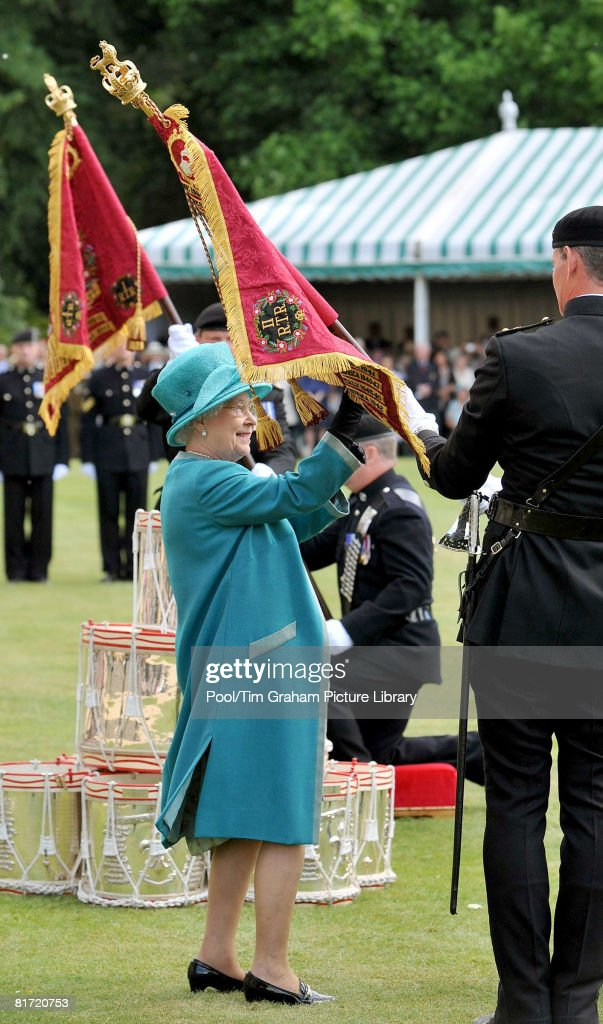 Queen Elizabeth II At Presentation Of New Standards : News Photo