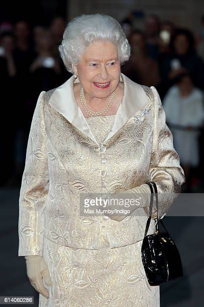 Queen Elizabeth II attends a reception and awards ceremony at the Royal Academy of Arts on October 11 2016 in London England