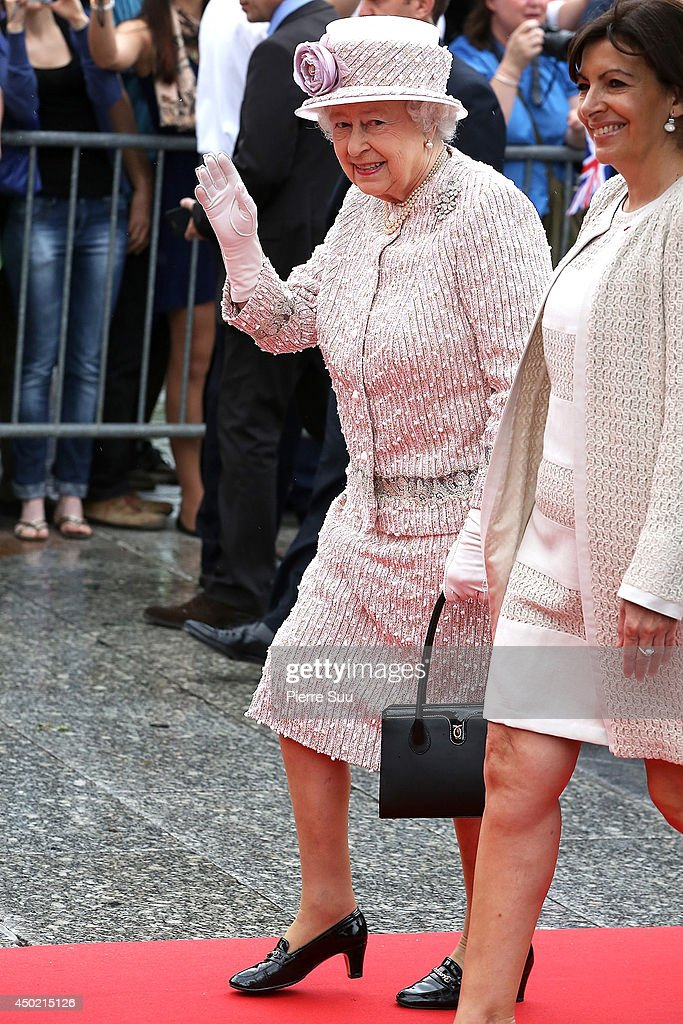 Queen Elizabeth II attends a reception at Paris city hall during the final day of a three-day state visit to Paris on June 7, 2014 in Paris, France.