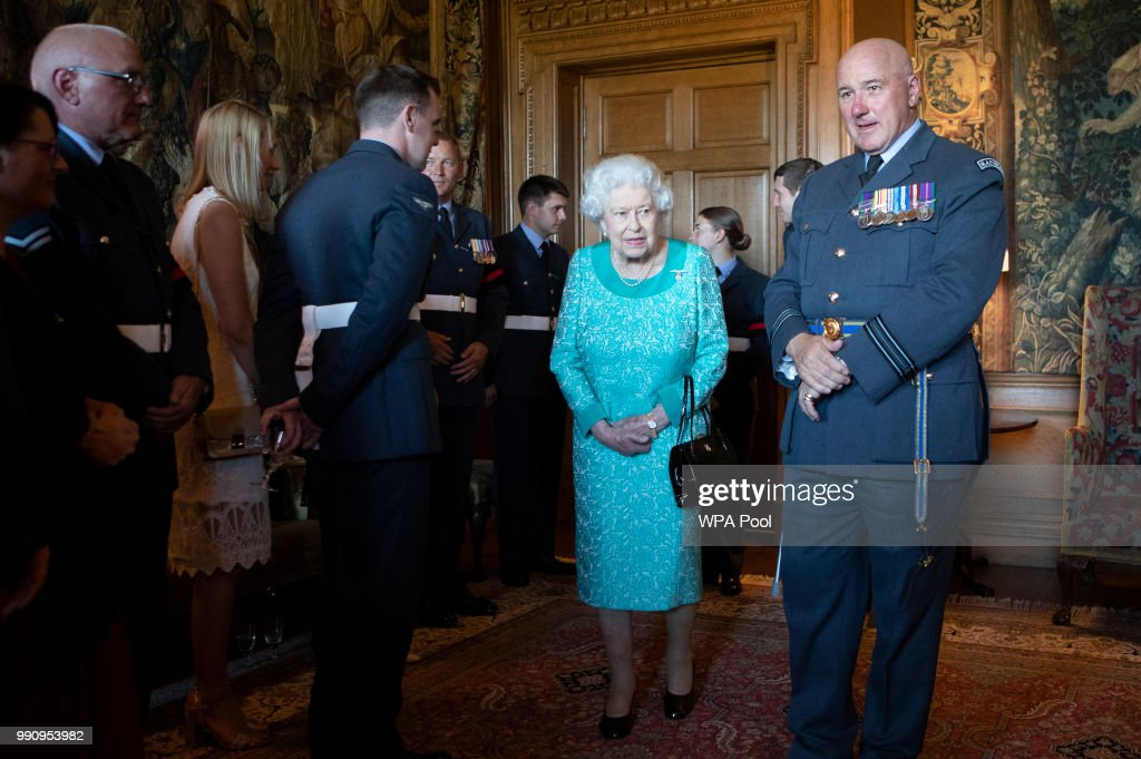 The Queen Attends Reception At Palace Of Holyroodhouse