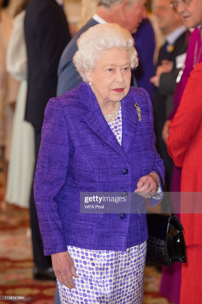 Queen Elizabeth II Marks The Fiftieth Anniversary Of The Investiture Of The Prince of Wales : News Photo