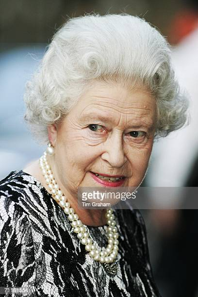 Queen Elizabeth II attends a Royal Gala performance at the Royal Opera House in Covent Garden to celebrate the 75th Anniversary of the Royal Ballet...